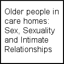 Sex, Sexuality and Intimate Relationships